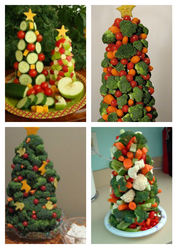 Kids In The Kitchen: How to make a Veggie Christmas Tree - About A Mom