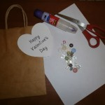 Valentine's Day Button Heart Gift Bag Craft