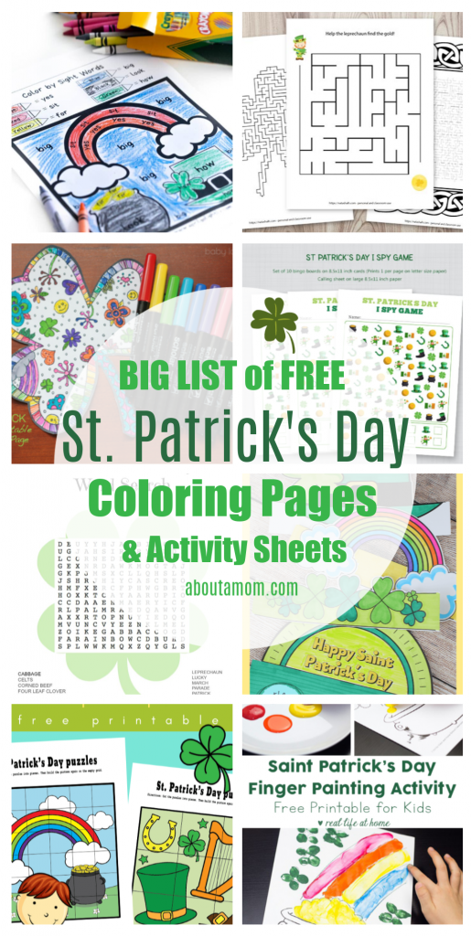 Free Printable St Patrick S Day Coloring Pages Activity Sheets About A Mom