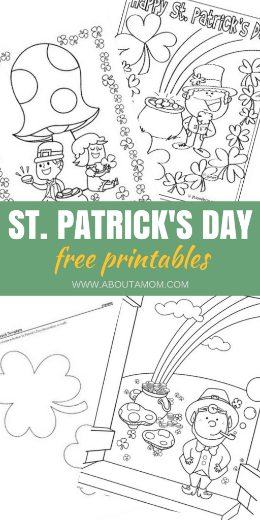 St Patrick S Day Printable Coloring Amp Activity Sheets