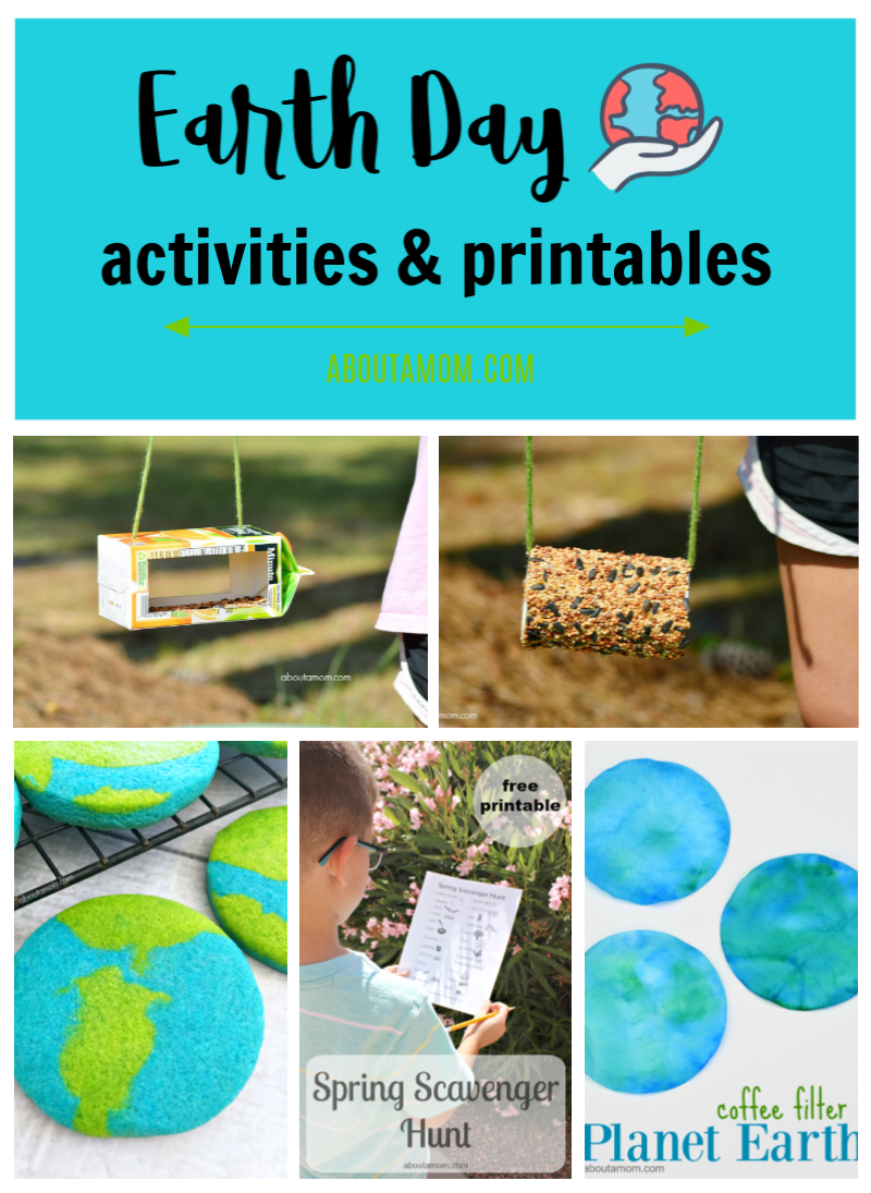 Earth Day is April 22. Here are some Earth Day activities for kids and free Earth Day printables.
