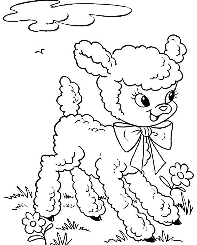 printable coloring pages for easter about a mom
