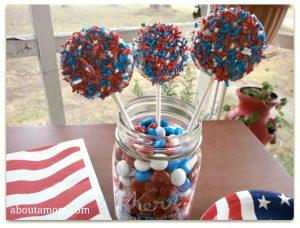 Patriotic Oreo Pops