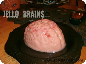 I warn you in advance that this jello brain recipe is not for weak stomached individuals. If you are looking for something totally gross and gruesome to serve your guests this Halloween, jello brains are for you.