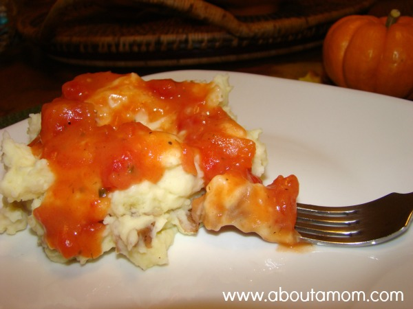 Mashed Rooster Potatoes with Tomato Gravy