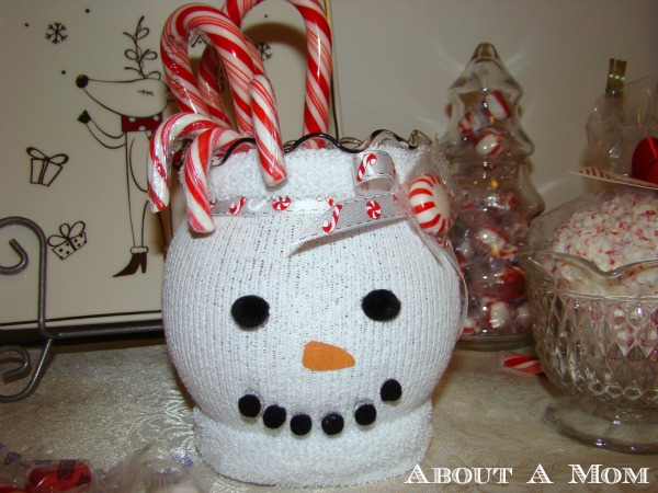 Upcycled Snowman Holiday Craft