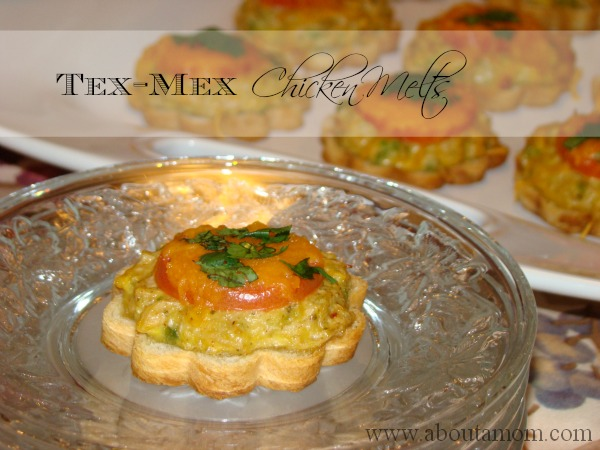 Tex mex chicken melts recipe for Canape bread tubes