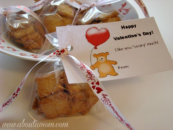 I Like You Beary Much Valentine S Day Treat Bags With Printable