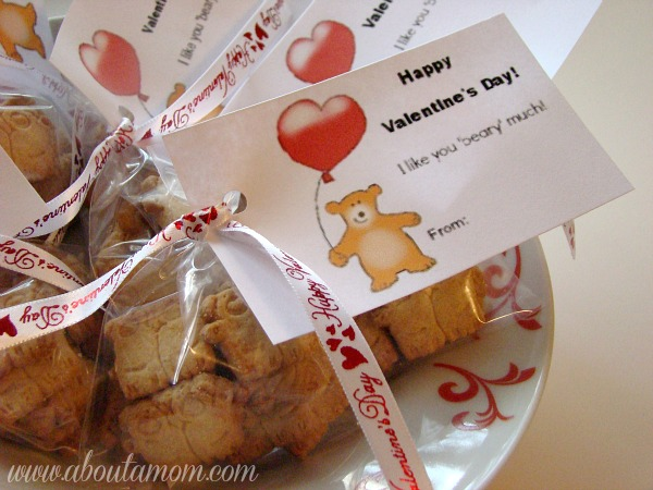 Beary Much Valentine's Day Treat Bags with Printable