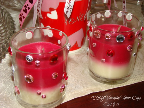 DIY Valentine Votive Cups - Dollar Store Crafts