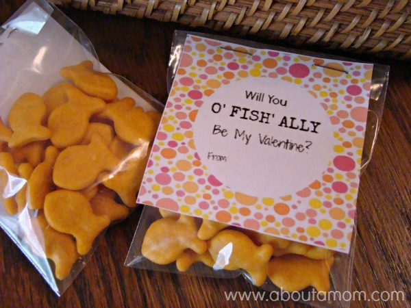 image relating to Goldfish Valentine Printable titled Goldfish Crackers Valentines with Printable, Absolutely free Printable