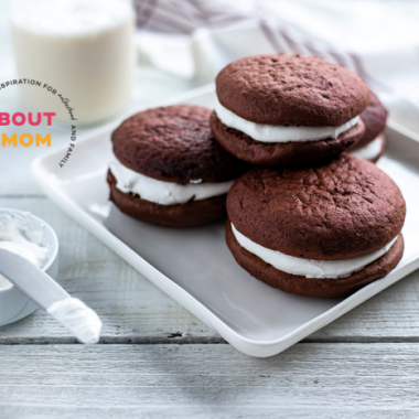 This Red Velvet Whoopie Pies recipe is simply the best thanks to the homemade marshmallow cream. Red Velvet Whoopie Pies are fun to make and oh-so fun to eat. A perfect sweet treat for any occasion!