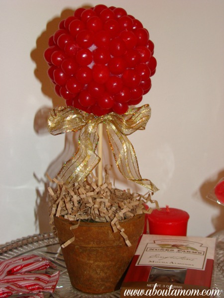 Sour Cherry Topiary - Dollar Store Crafts for Valentine's Day