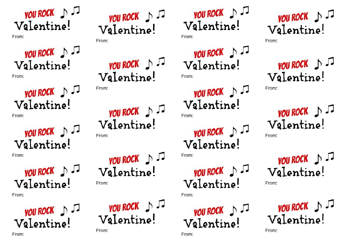 picture about You Rock Valentine Printable identified as Oneself Rock Valentine Printable - Regarding A Mother