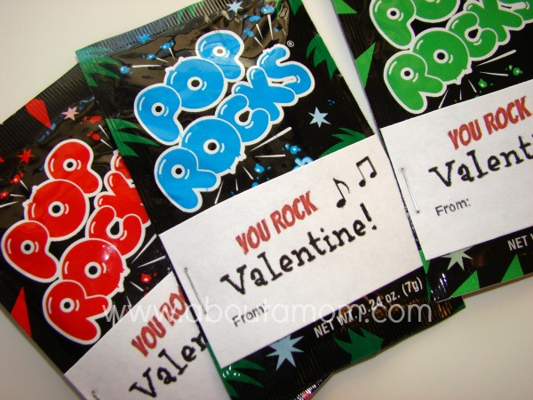 photo about You Rock Valentine Printable titled Easy Handmade Valentines for Small children with Totally free Printables