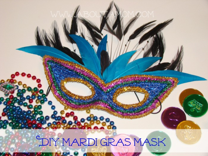 DIY Mardi Gras Mask Craft