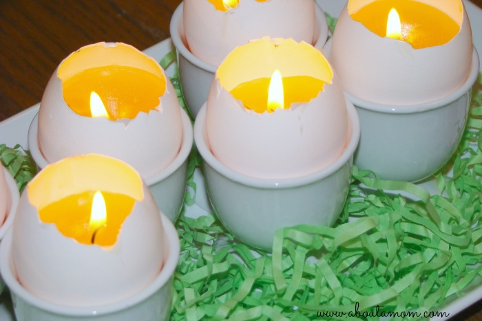 egg shell candles easter centerpiece about a mom