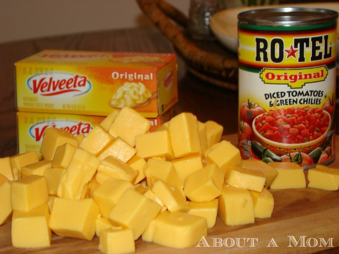 Award Show Party Ideas - Famous Queso Dip Ingredients