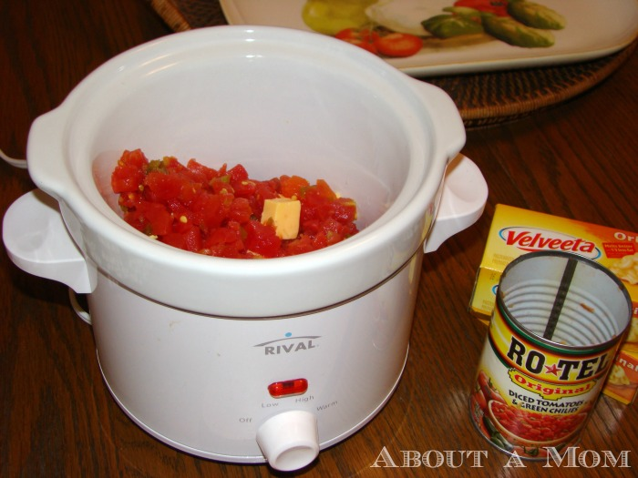 Famous Queso Dip in the Slow Cooker