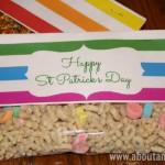 St Patrick's Day Treat Bag Printables