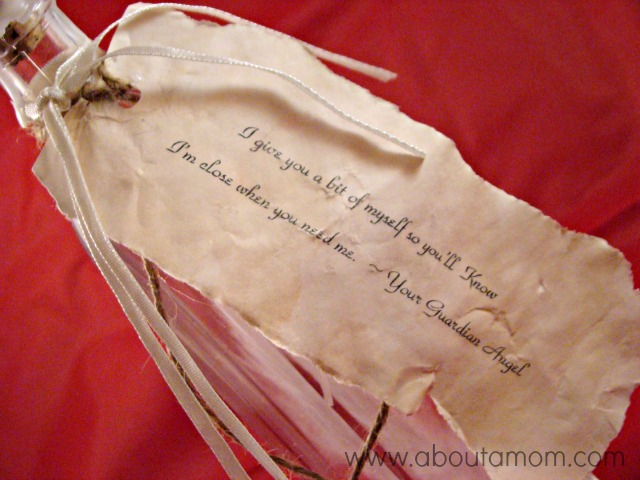 Guardian Angel Message in a Bottle for Valentine's Day