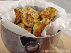 Lightened Up Zucchini Chips