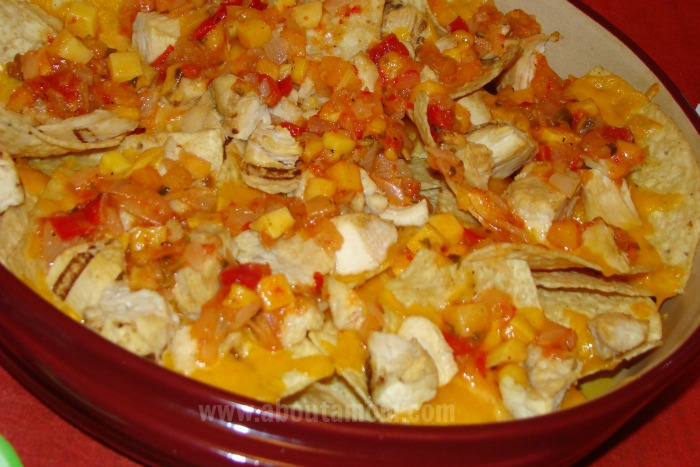 Tropical Chicken Nachos - Award Show Party Food