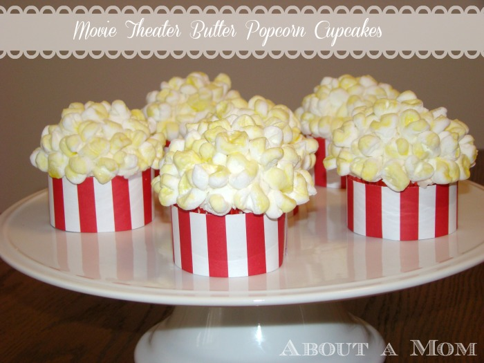 Popcorn Cupcakes - Award Show Party Ideas