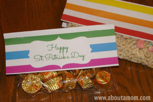 Free St Patrick's Day Treat Bag Printables