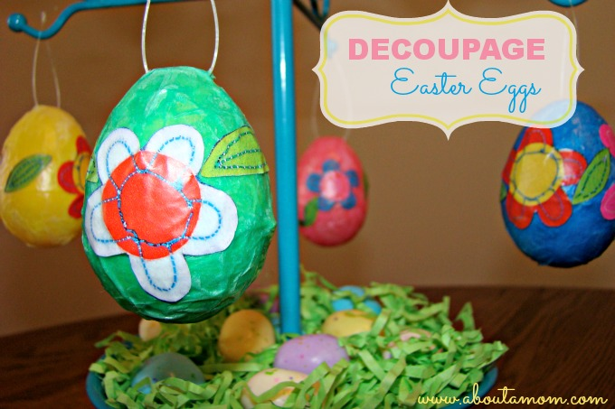 Decoupage Eggs Easter Craft
