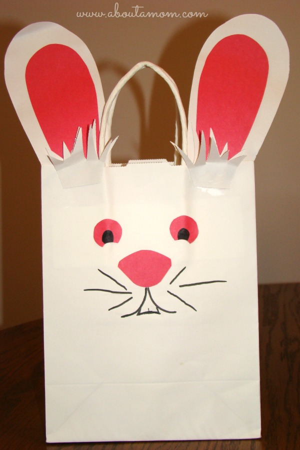 Last Minute Easter Craft Easter Bunny Bag About A Mom