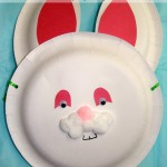 Easter Bunny Basket Paper Plate Craft