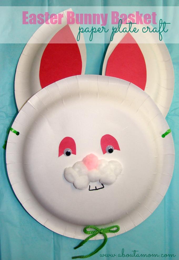 Easter Bunny Basket Paper Plate Craft