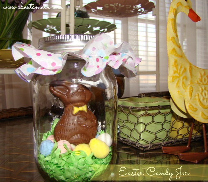 Diy easter candy jar about a mom easter candy jar negle Images