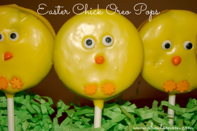 easter chick oreo pops - Easter Chick
