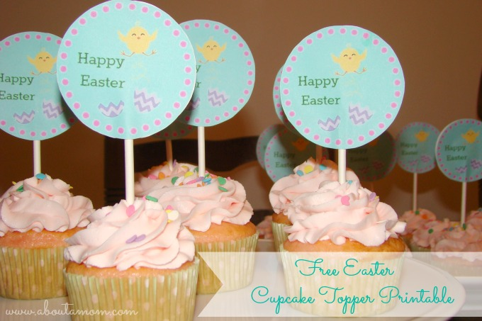 Free Easter Cupcake Toppers Printable