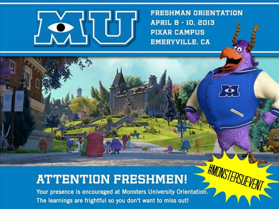 Monsters University #MonstersUEvent
