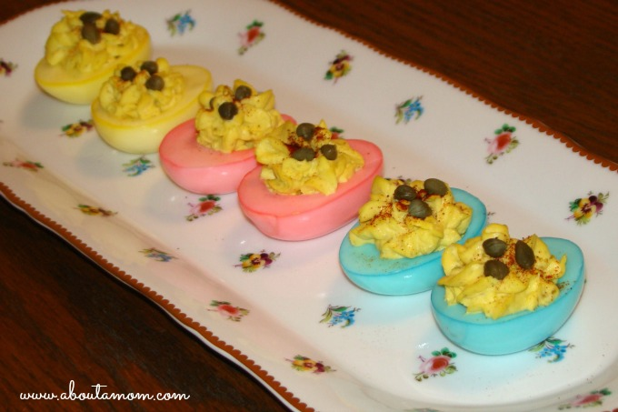 Pretty Pastel Deviled Eggs for Easter