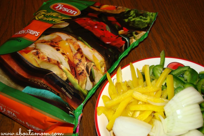 Quick Fix Fajitas using Tyson Grilled & Ready Chicken