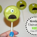 Monsters University Party Ideas :: Mike Oreo Pops #MonstersUEvent