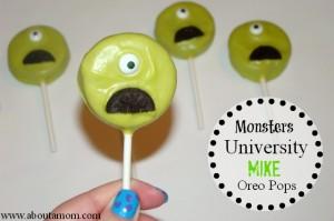 Monsters University Mike Oreo Pops