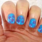Monsters University Sully Inspired Nails #MonstersUEvent