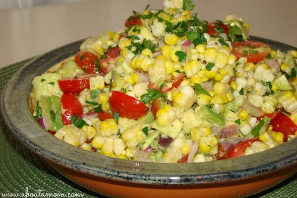 Sweet Corn, Tomato, and Avocado Salad #SweetLife