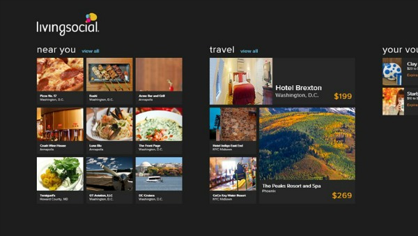 Living Social - Windows 8 Travel apps