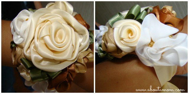 Mother's Day Corsages Made from Ribbon Roses
