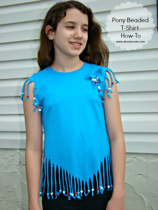 Pony Beaded T-Shirt Craft