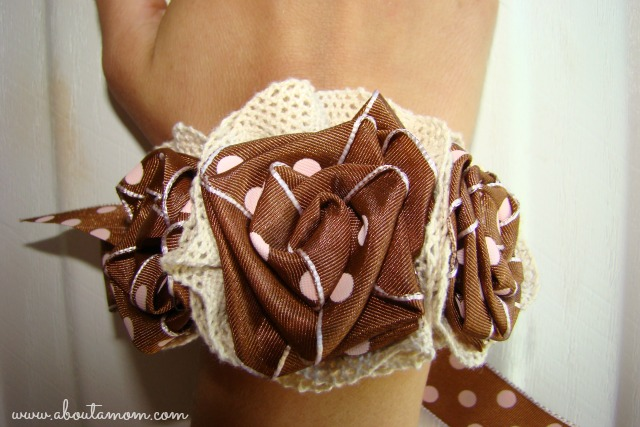 Ribbon Rose Wrist Corsage