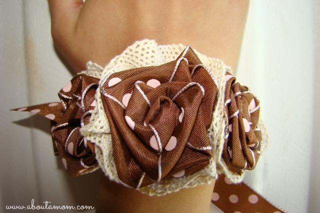 Ribbon Rose Wrist Corsage