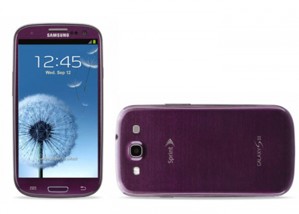 Purple Samsung Galaxy S3 for Sprint