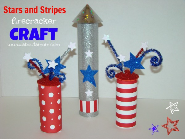 Stars and Stripes Firecracker Craft for Kids